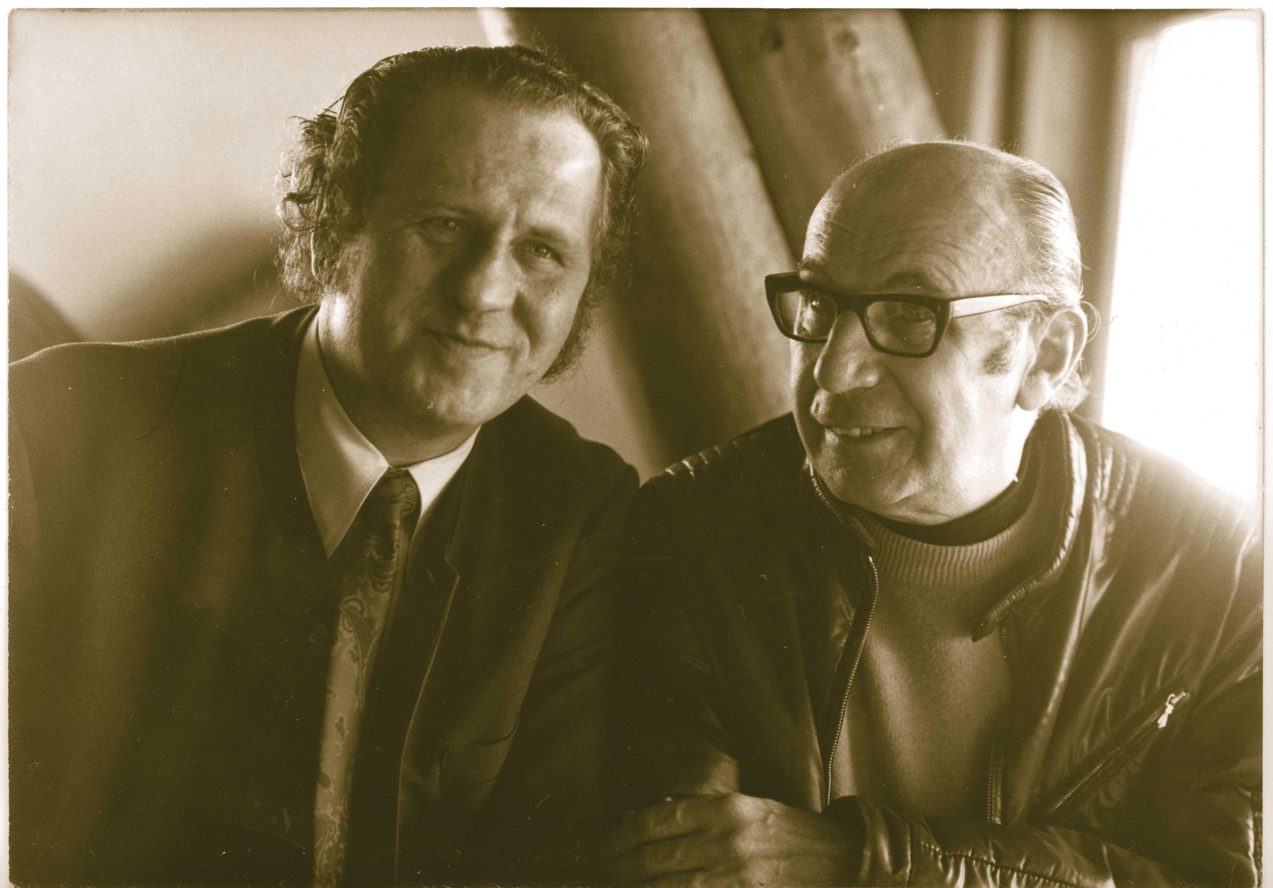 KarlProf. Spiehs mit seinem Freund und Kollegen Franz Antel