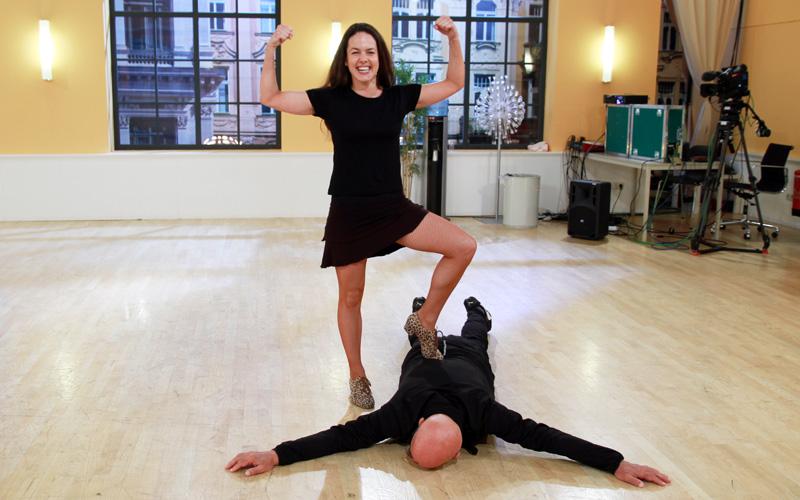 Ott Retzer mit Roswitha Wieland beim Training
